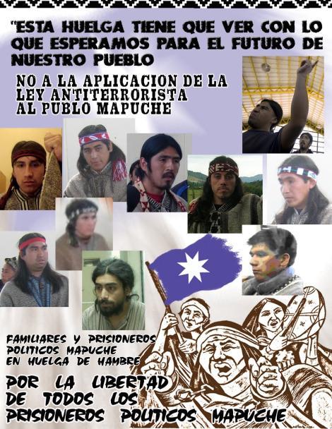 Mapuches en huelga de hambre