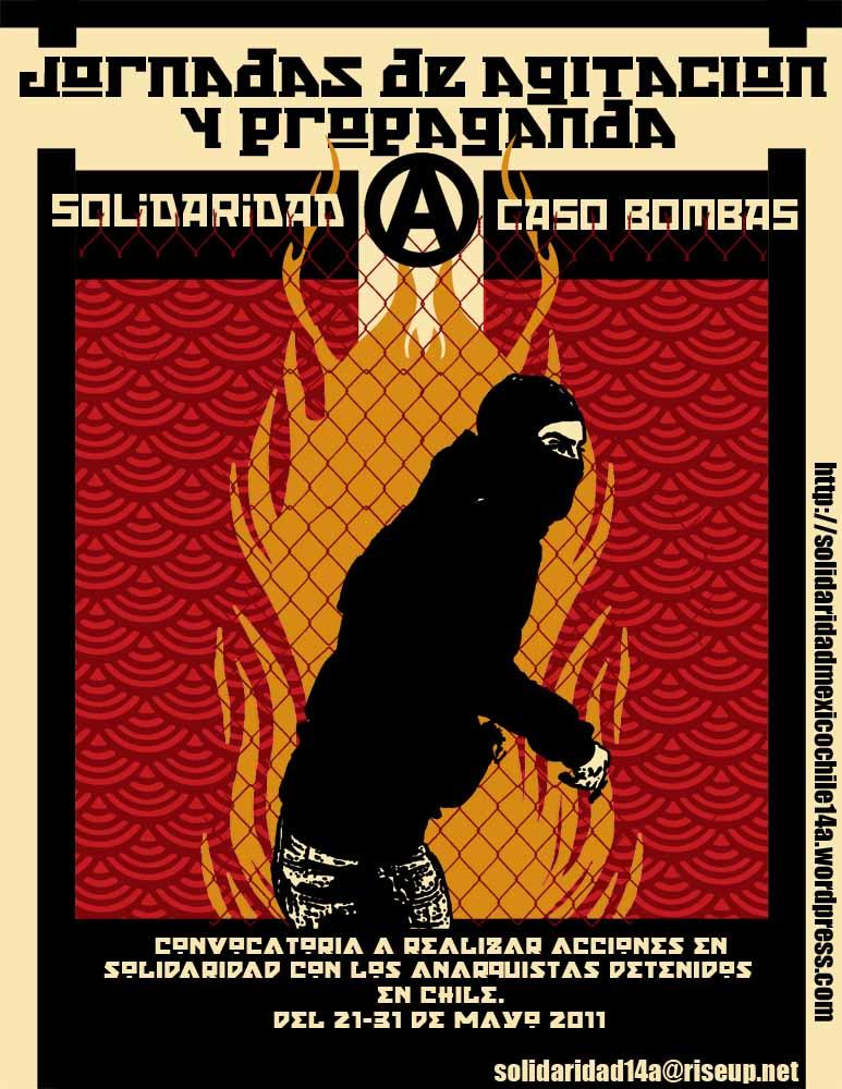 México – Convocatoria para jornadas de agitación en México y Reseña de actividad en solidaridad con lxs compas en chile.