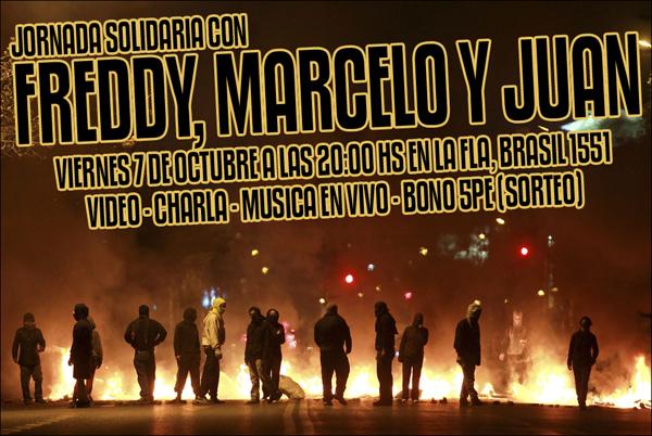 Buenos Aires – JORNADA SOLIDARIA CON FREDDY MARCELO Y JUAN. 7 de Oktubre.